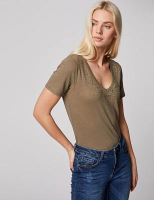 Tee-shirt Morgan Dlina kaki