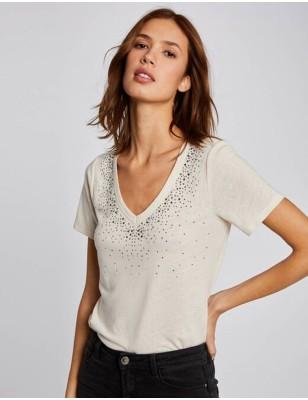 Tee-shirt Morgan Dlina beige