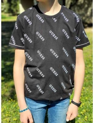 Tee-shirt Guess Mathis noir