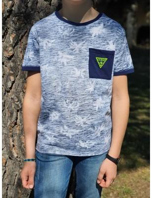 Tee-shirt Guess Owen marine