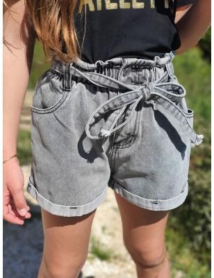 Short en jean Calou gris