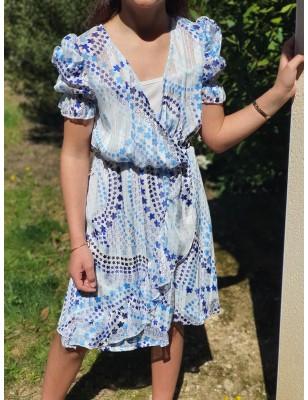 Robe Floriana bleue