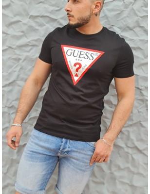 Tee-shirt Guess Firmin noir