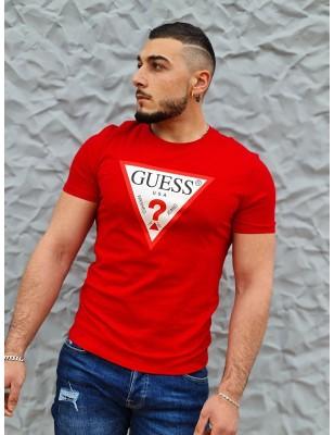 Tee-shirt Guess Firmin rouge
