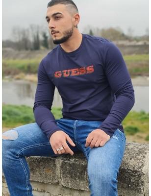 Tee-shirt Guess Ferdie marine