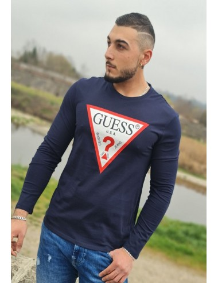 Tee-shirt Guess Flavien marine