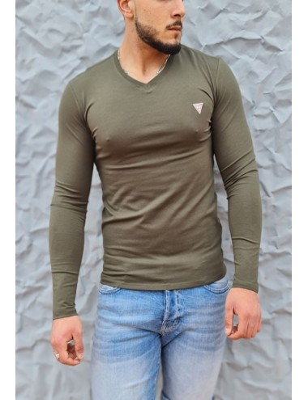 Tee-shirt Guess Fabio kaki