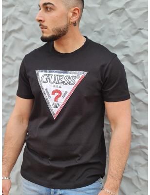 Tee-shirt Guess Gauvin noir