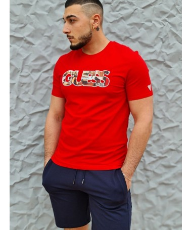 Tee-shirt Guess Otello rouge
