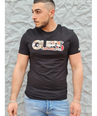 Tee-shirt Guess Otello noir