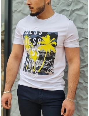 Tee-shirt Guess Paco blanc