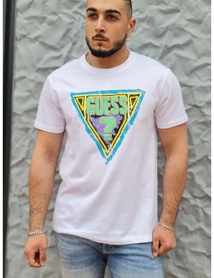 Tee-shirt Guess Malone blanc