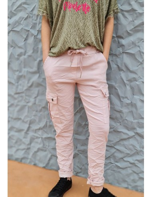 Pantalon baggy Calou rose