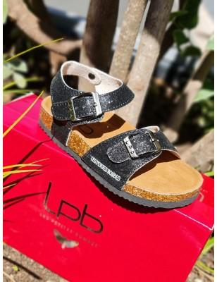Sandales LPB Rosette noires