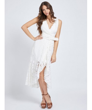 Robe longue Guess Enza blanche