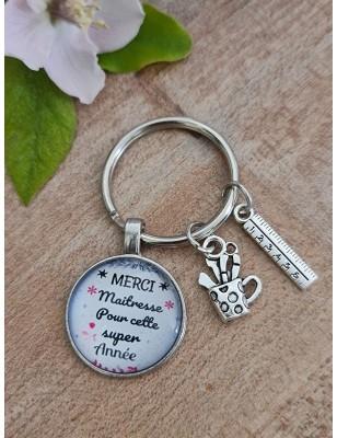 """Porte-clés """"Merci maîtresse..."""