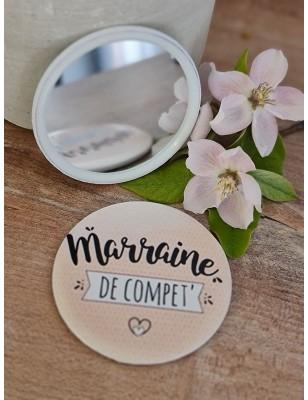 """Miroir """"Marraine de compet""""..."""