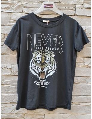Tee-shirt tigre noir