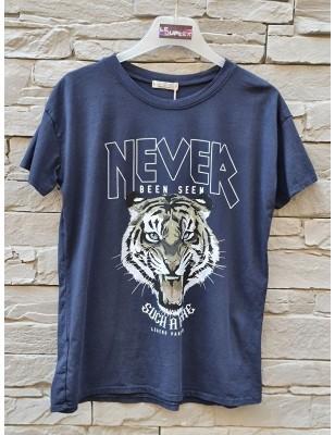 Tee-shirt tigre marine