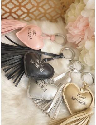 """Porte-clés cœur """"Merci..."""