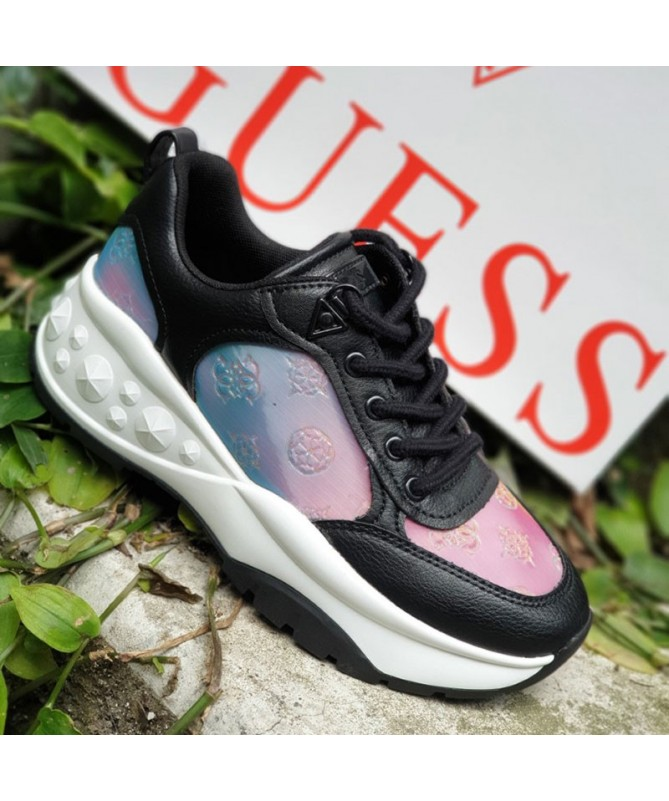BASKETS GUESS CLEAO HOLOGRAPHIQUES