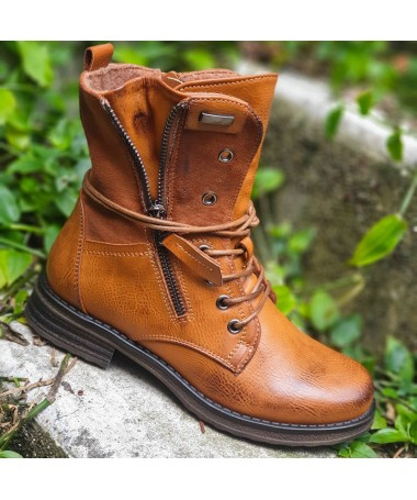 BOTTINES ABBY CAMEL
