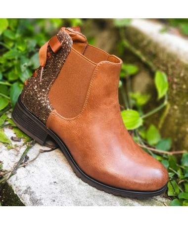 BOTTINES ALBA CAMEL