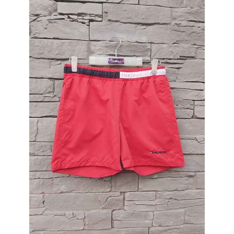 Short de bain Tommy Hilfiger Peter rouge avec poches