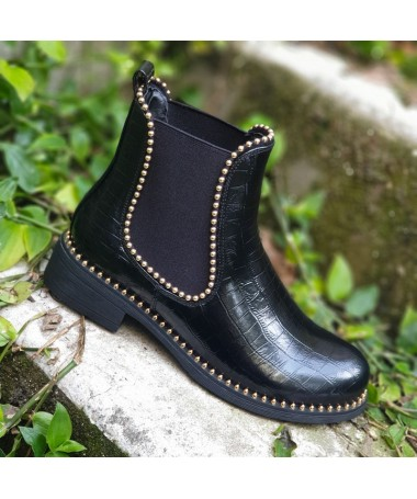 Bottines Betty noires or