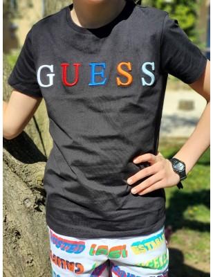 Tee-shirt Guess Tillo noir