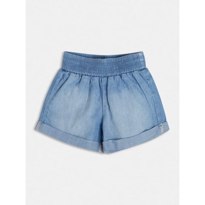Short en jean clair Guess Biba coupe ample avec effet légèrement délavé