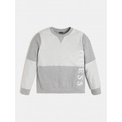 Sweat Guess Keops gris et blanc col rond