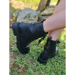 Bottines Guess Olinia noires style rangers