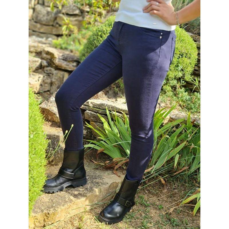 Pantalon skinny Morgan petra bleu marine
