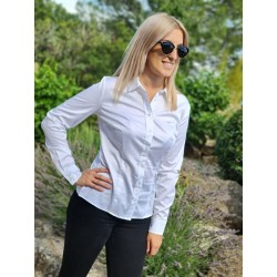 Chemise manches longues Guess Nikkie blanche