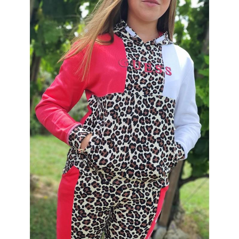 Sweat à capuche Guess Ellya léopard