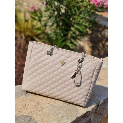 Cabas Guess Cessily beige effet tweed