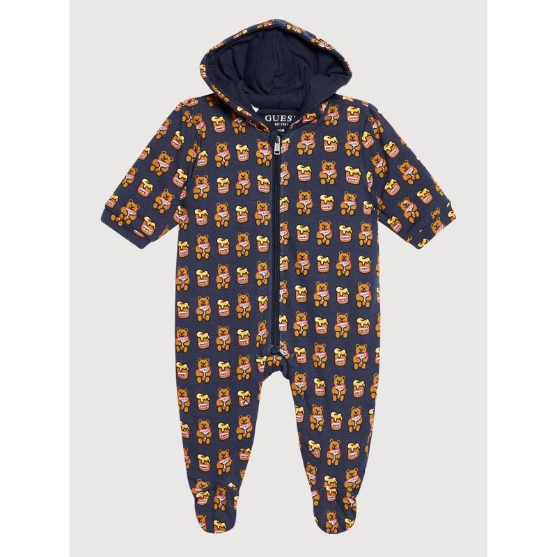 Combi-pyjama Guess Sacha bleu marine avec oursons
