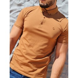 Polo manches courtes Benson and Cherry Ghost camel