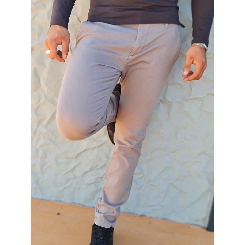 Pantalon slim Guess Alban gris