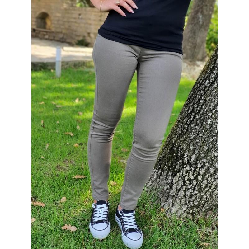 Pantalon skinny Morgan Petra kaki