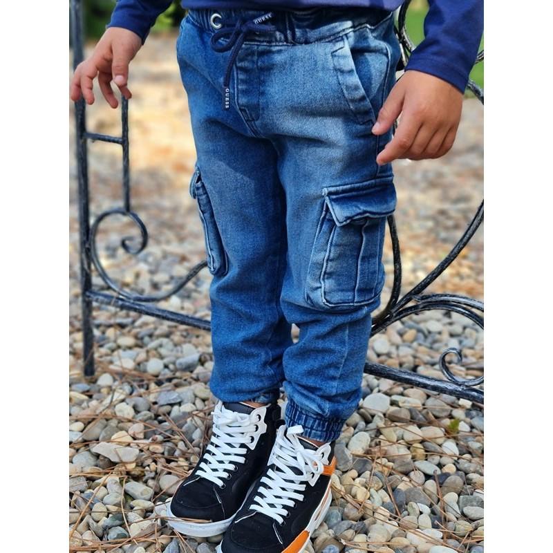 Jeans baggy Guess Dylan bleu avec poches