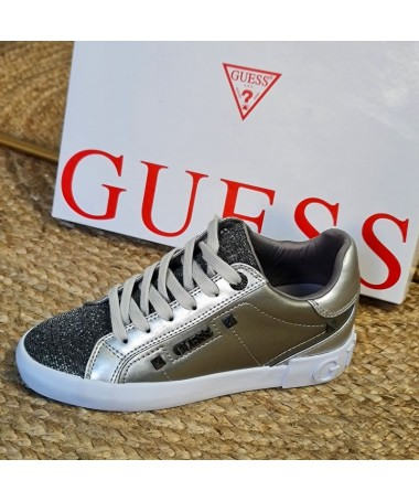 BASKETS GUESS PUXLY3 ARGENT