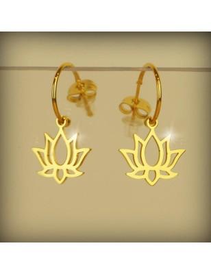 Boucles d'oreilles fleur de...