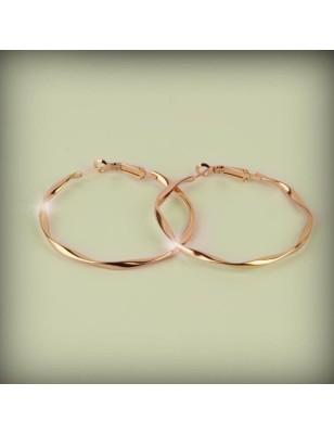 CREOLES TORSADEES ROSE GOLD