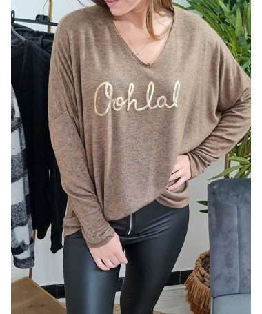 PULL FIN OOHLALA TAUPE