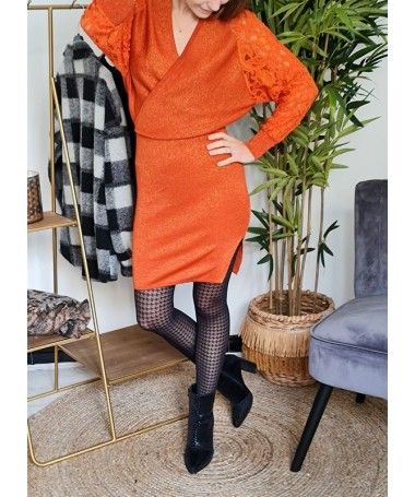 ROBE CACHE COEUR KIM ORANGE