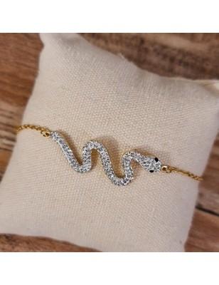 Bracelet serpent couleur or