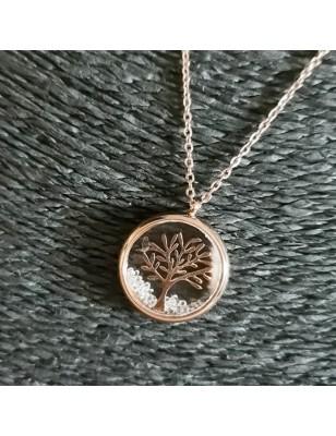 Collier arbre de vie strass...