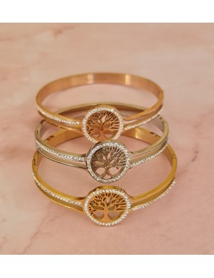 Bracelet rigide arbre de vie